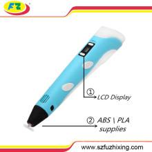Fábrica de suministro Doodler 3D pluma de dibujo de la impresora con pantalla LCD