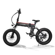Luvgogo EU Warehouse MTB Mountain Electric Bike Big Tyre Folding Bicycle Full Suspension 48v 500w Electric City Bike