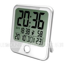 Gran reloj de escritorio de cristal con reloj de 8 idiomas durante la semana (CL159)