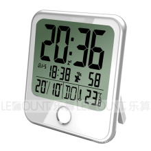 Large LCD Desk Calendar Clock with 8 Languages Weekday Display (CL159)