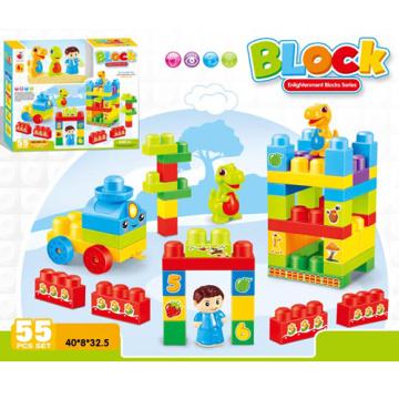 DIY пластиковые строительные блоки дети блоки образования игрушек (H9792024)