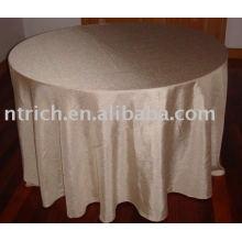 Tafetá simples toalha de mesa, tampa de tabela do Hotel/banquete, toalhas de mesa