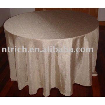Taffeta plaine nappe, couverture de Hotel/Banquet de table, linge de Table