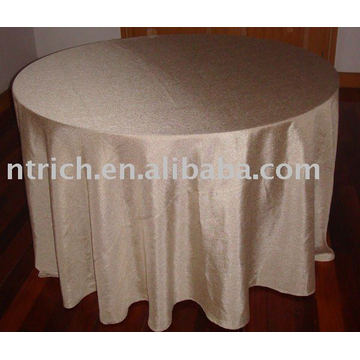 Taffeta plain tablecloth, Hotel/Banquet table cover, Table linen