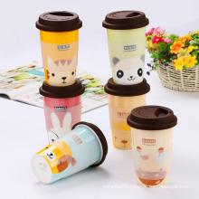Custom ceramic mug with silicone lid