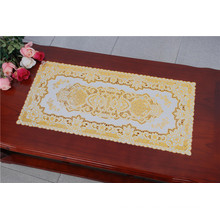 40 * 84cm PVC Gold & Silber Spitze Kunststoff Tischset