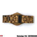 Top-Quality Zebra-Wooden Watches Date Quartz Watches