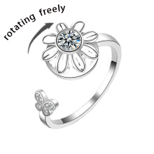 Low MOQ Stress Silver Relief Fidget Ring Anxiety Ring