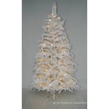Árbol de Navidad artificial realista con luz de cadena Decoración multicolor LED (AT2025)