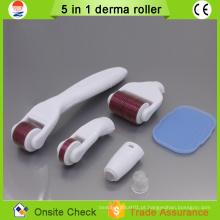 2015 novos produtos cuidados com a pele micro agulha 5 em 1 derma roller