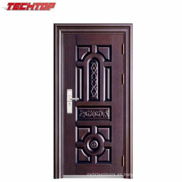 TPS-057A Entrada de hierro individual puerta de diseño principal indio