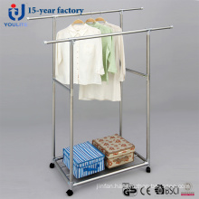 All Metal Double Rod Telescopic Clothes Hanger