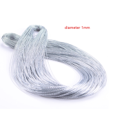 Custom 1mm diameter silver metallic cord wholesale