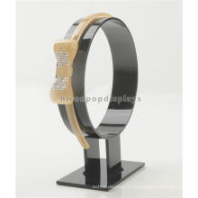 Tabela de preços de fábrica Custom Single Circle Acrílico Commercial Portable Headband Display Rack
