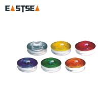 Verschiedene Farben 360 Grad Straßenglas Kleine Runde Reflektoren