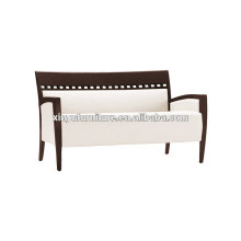 Hotel solid wooden fabric couch XY3369