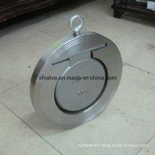 Valve de retenue pivotante en acier inoxydable à un seul disque en acier inoxydable