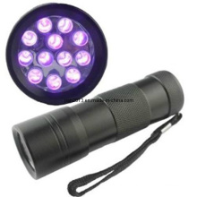 12 PCS LED 365-395nm AAA UV Purple LED Flashlight