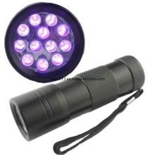 12 PCS LED 365-395nm AAA UV Purple LED Flashlight
