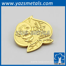 custom zinc alloy/copper cloth badge, with design logo