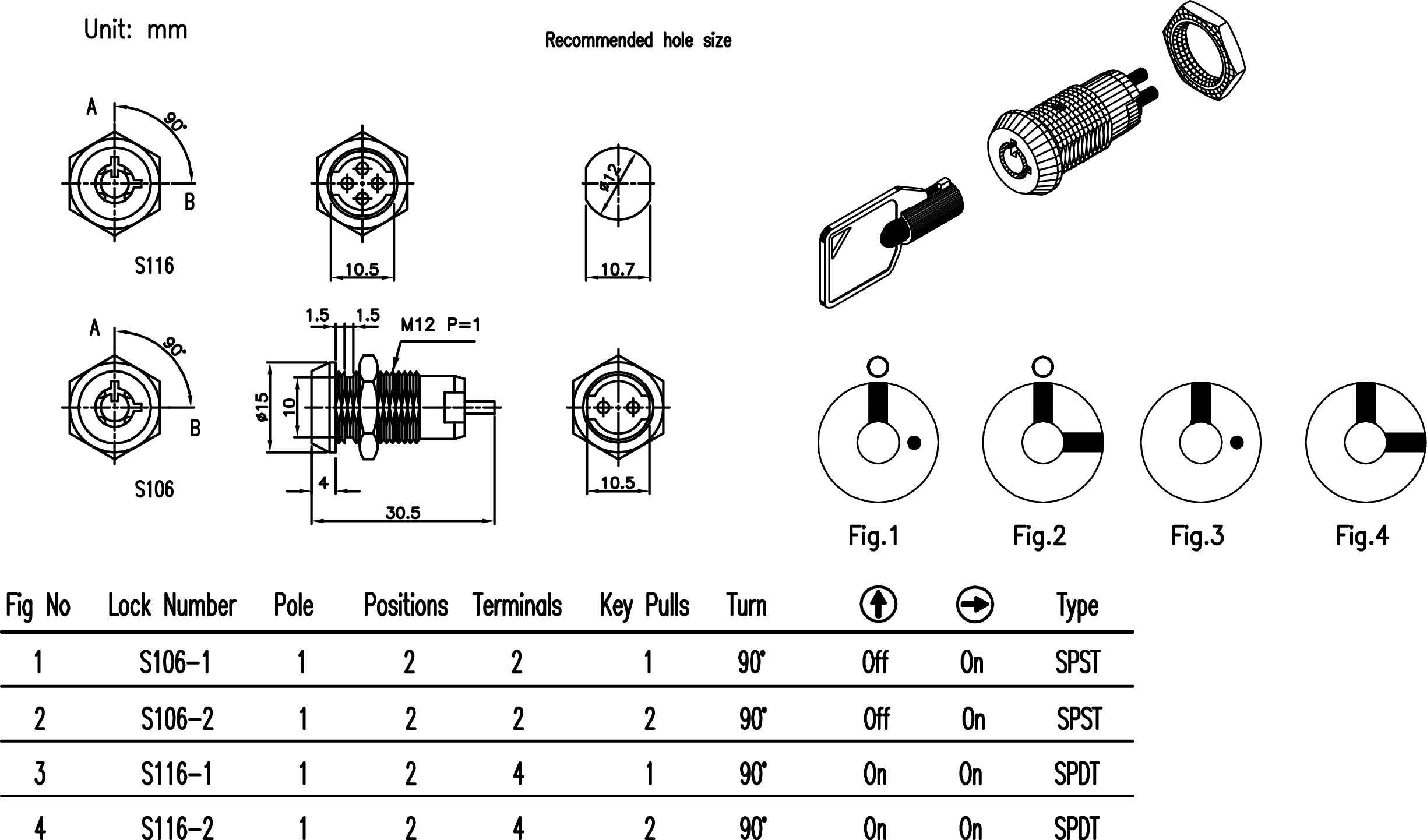 Electrical Key Switch