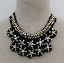 Ladies Fashion Charm Costume Jewelry Chunky Collar Necklace