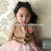Terninha macia de melhor qualidade com camisola de lã de bebê com botão