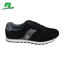 black suede leisure running shoes
