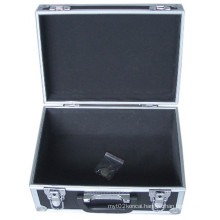Silver Striped Aluminium Briefcase Tool Case with Combination