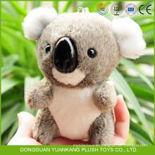El OEM de fábrica acepta el mini juguete del llavero del oso de koala de la felpa