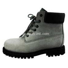 Suede Leather/Rubber Outsole Safety Boots