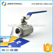 JKTL2B044 1000wog cf8m válvula flotante de la bola de la seguridad del hierro fundido de 2 pedazos