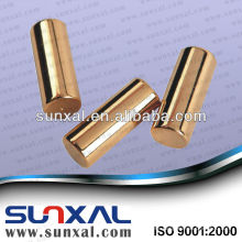 Gold Plated Bar Neodymium Magnet