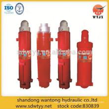 Soporte de cilindro hidráulico de columna telescópica simple y doble