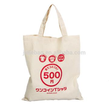 Fördernde kundengebundene Segeltuch-Baumwolltasche, kundenspezifische Segeltuch-Einkaufstasche, faltbare Baumwolleinkaufstasche