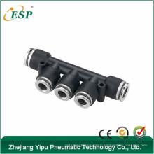 PYM zhejiang yipu k type black body with brass button triple branch union