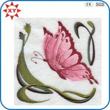 Exquisite Fein Detail Rosa Schmetterling Stickerei Abzeichen