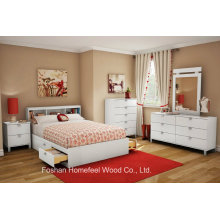 Kids 3 Pieces Bedroom Furniture Set White