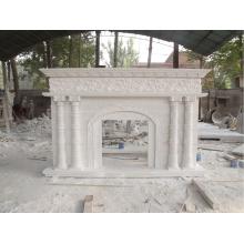Vente chaude moderne décoration de la maison sculptures en pierre et cheminée de sculpture
