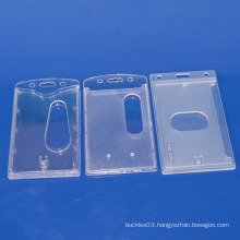 The factory sale newest transparent clear hard plastic ID card holder