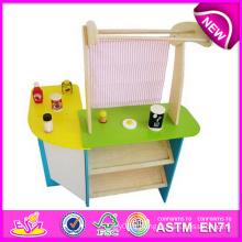 2014 nouveau jouet de jeu de rôle pour des enfants, jouet en bois coloré de jouet de simulation pour des enfants, jouet en bois de simulation de jeu de vente chaude pour le bébé W10c084