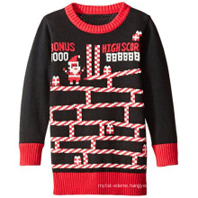 PK18ST061 Game Santa crew neck ugly Christmas sweater for adults