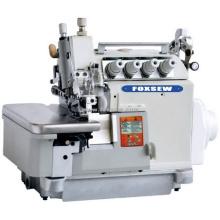 Máquina de coser overlock de alimentación superior e inferior de accionamiento directo