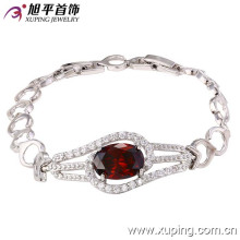 73054 Fashion luxe rhodium CZ diamant imitation bijoux Bracelet pour les femmes