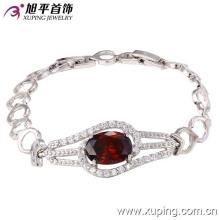 73054 Fashion Luxury Rhodium CZ Diamond Imitation Jewelry Bracelet for Women