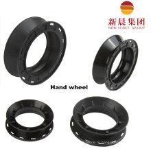 Черный цвет 12 см рука колеса пластиковые колеса пластиковые шпули