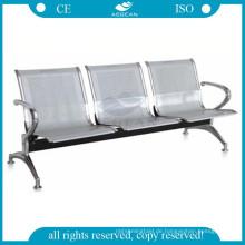AG-TWC001 Krankenhaus 3-Sitzer Edelstahl Wartezimmer Stühle verwendet