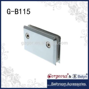 Abrazadera de cristal de 0 grados de montaje en pared de acero inoxidable
