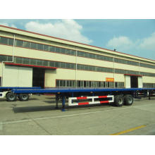 Special Design for CIMC Flatbed Semi-Trailer 40' TWO AXLE FLATBED WITH BOGGIE SUSPENSION  SEMI-TRAILER supply to Svalbard and Jan Mayen Islands Factory