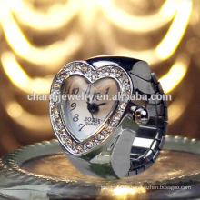 Bague de coeur doux Montre Anneau de cristal Montre Montre en métal Montre Beaucoup de Montre Ring Ring JZB008